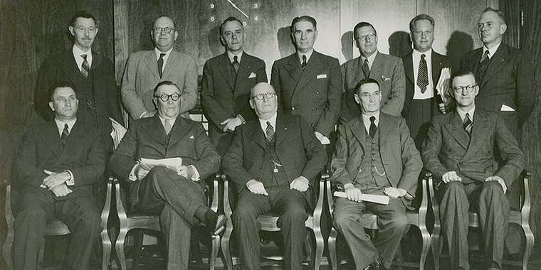 The first National Party government under South African Prime Minister Daniel François Malan in 1948. The government of South Africa established the Atomic Energy Board a year later.