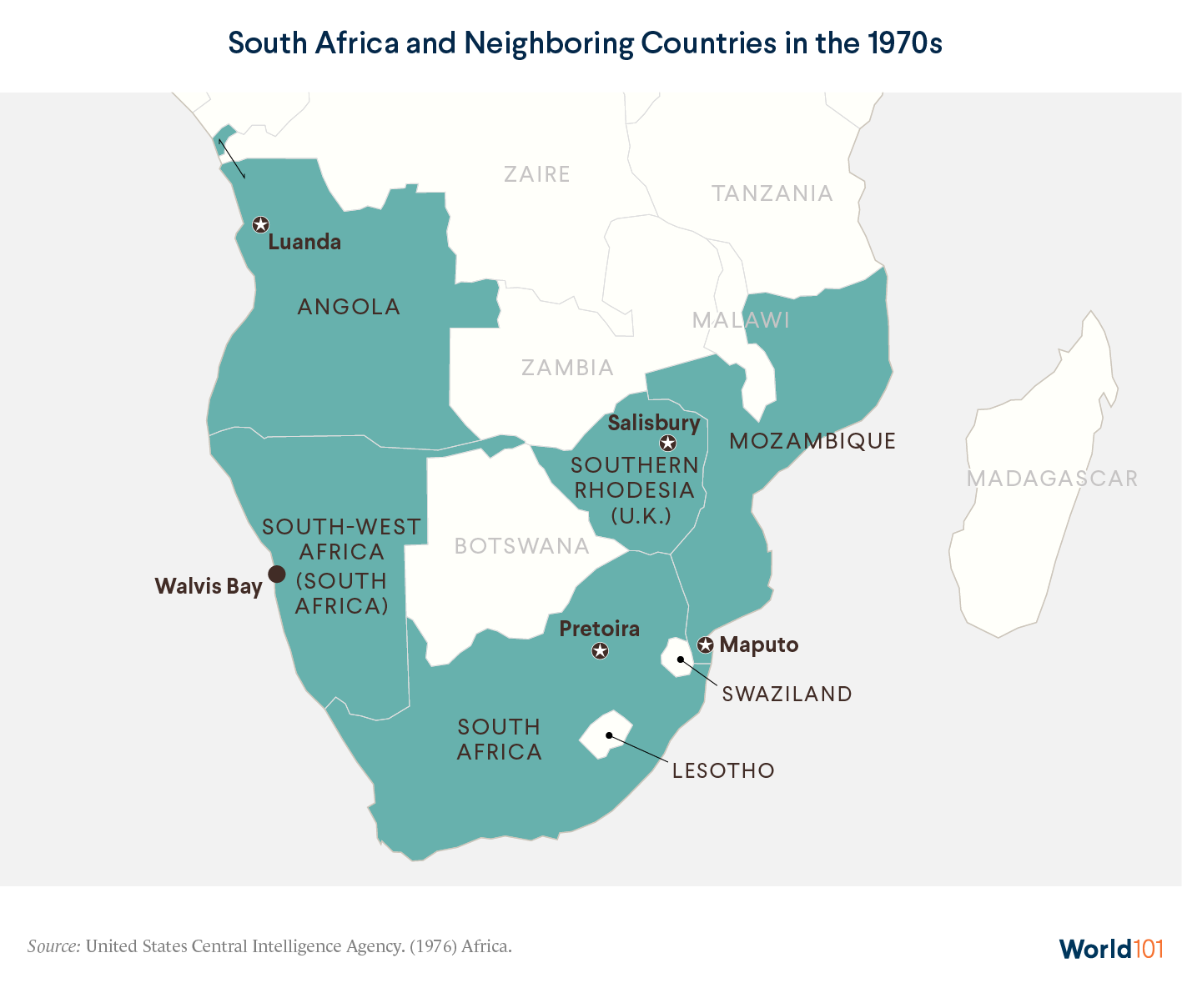 South Africa and Neighboring Countries in the 1970s